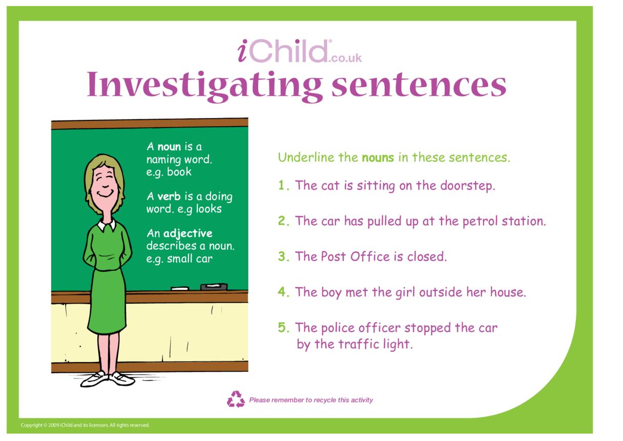 Investigating Sentences