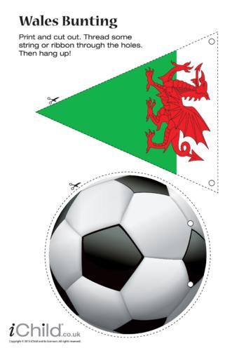 Thumbnail image for the Cymru (aka Wales) Football Bunting activity.