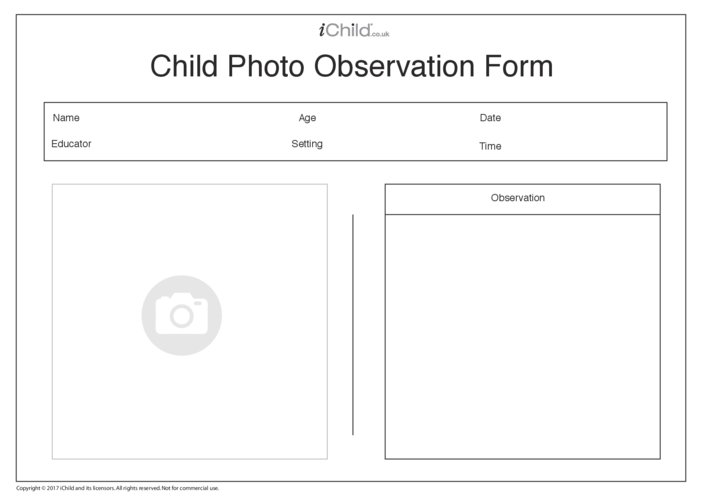 Thumbnail image for the Child Photo Observation Form activity.