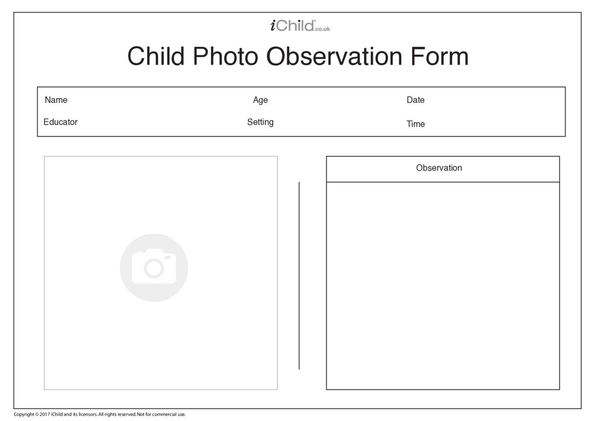 Child Photo Observation Form
