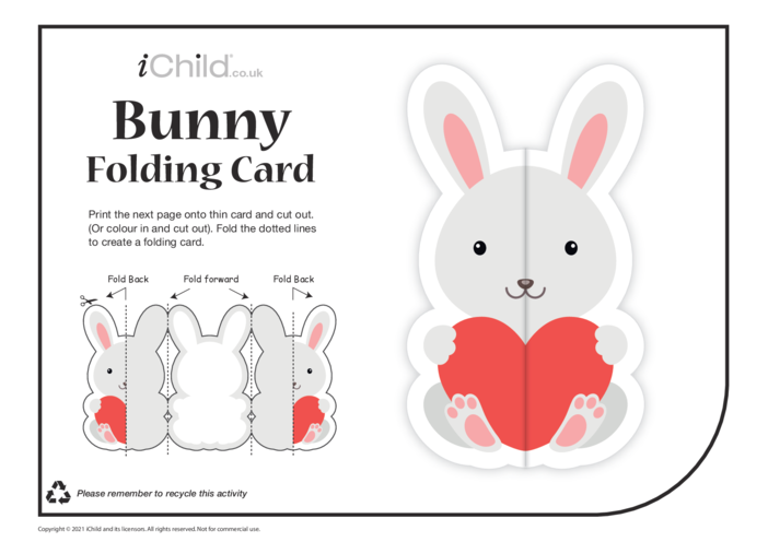 Thumbnail image for the Bunny Love Folding Valentine Card activity.