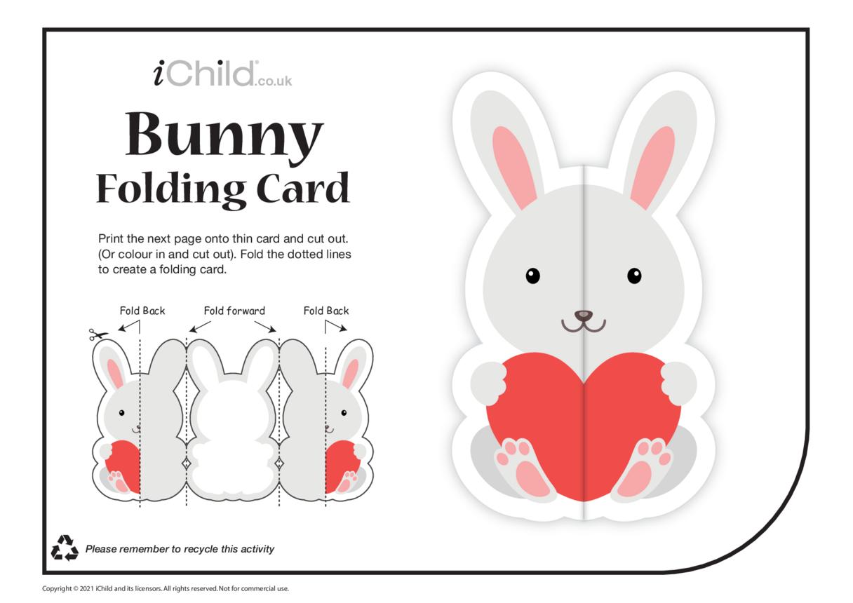 Bunny Love Folding Valentine Card