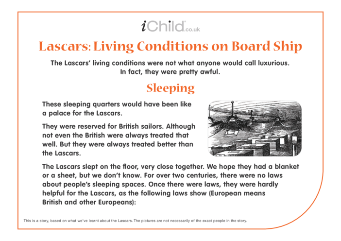 Thumbnail image for the Lascars: Living Conditions on Board Ship activity.