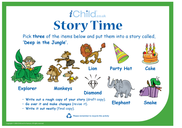 Thumbnail image for the Story Time - Jungle activity.