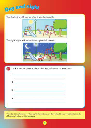 Thumbnail image for the Collins Easy Learning KS1 Telling The Time, Day and Night activity.