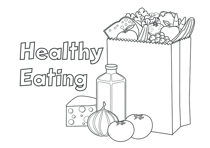 Thumbnail image for the Healthy Eating (black & white) - Signs & Posters activity.
