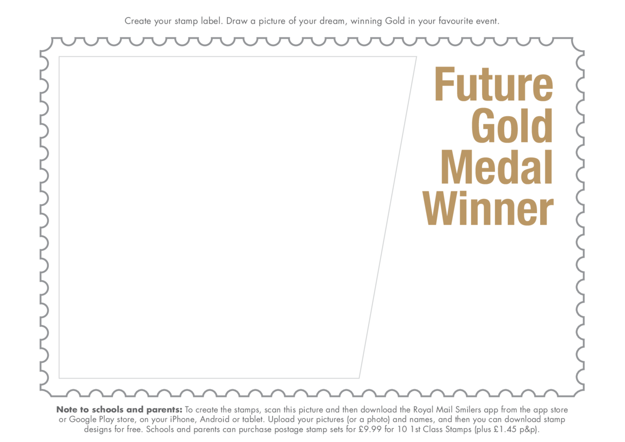 Primary 3) Stamping My Mark- Future Gold Medal Winner Drawing Template
