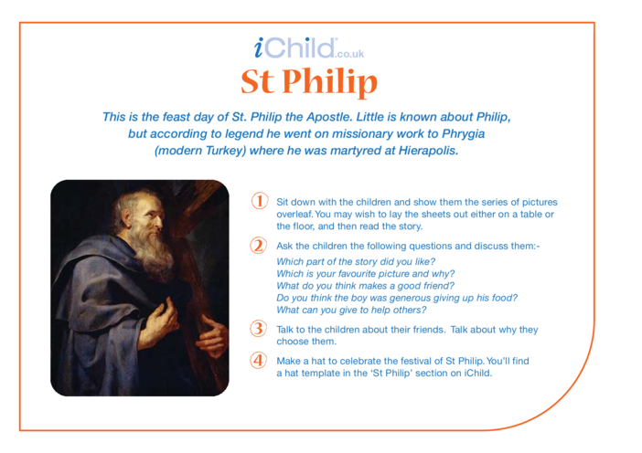 Thumbnail image for the St. Philip The Apostle Religious Festival Story activity.
