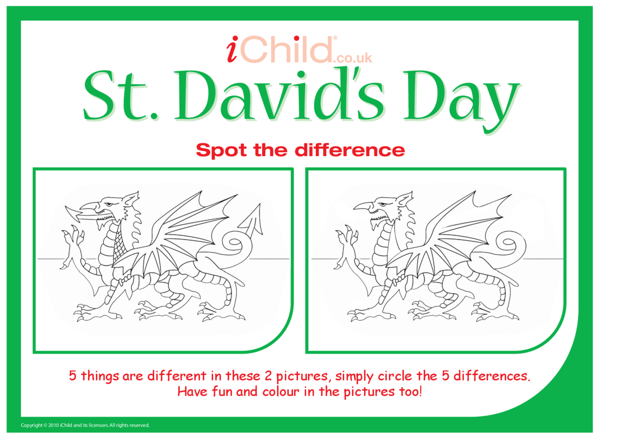 St. David's Day Spot the Difference