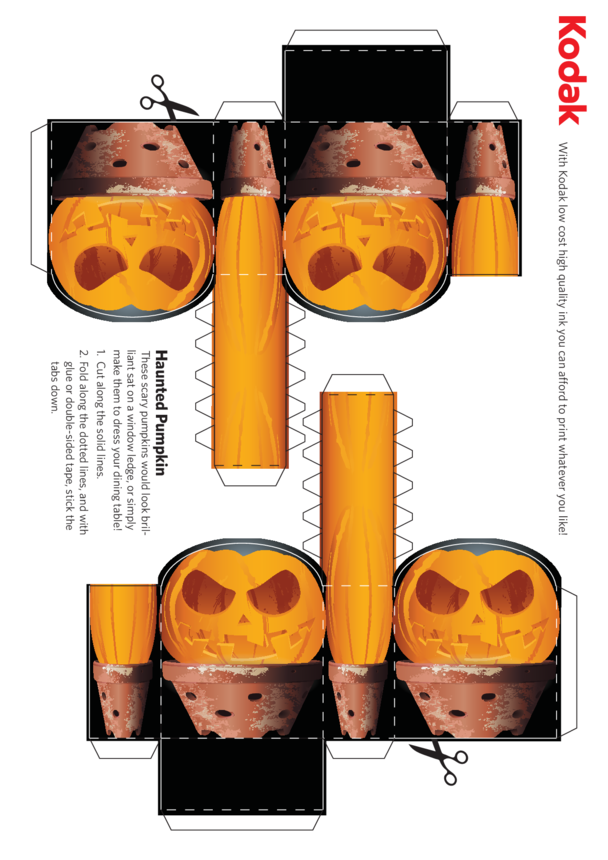 Kodak Pumpkin Folding Figure