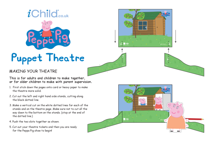 Thumbnail image for the Finger Puppet Theatre: Peppa Pig activity.