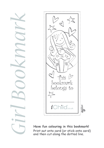 Thumbnail image for the Girl Bookmark activity.
