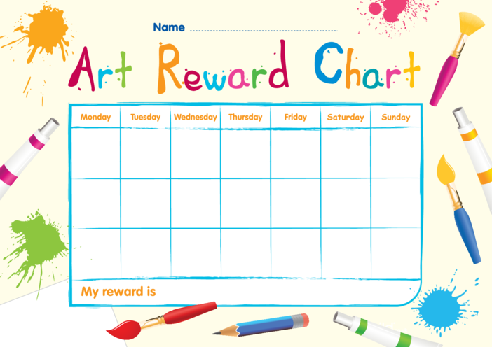 Thumbnail image for the Art Reward Chart activity.