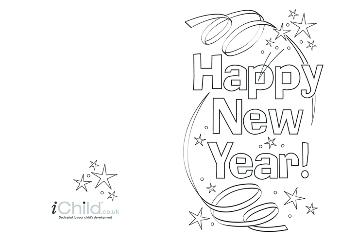Thumbnail image for the Happy New Year Card activity.