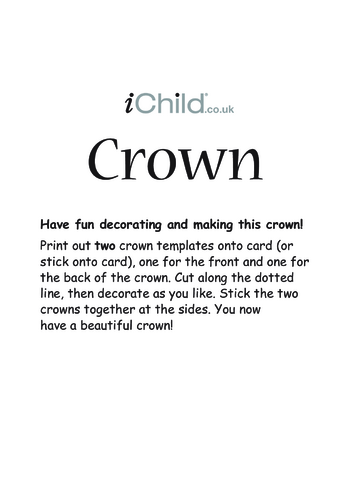 Thumbnail image for the Make a Crown activity.