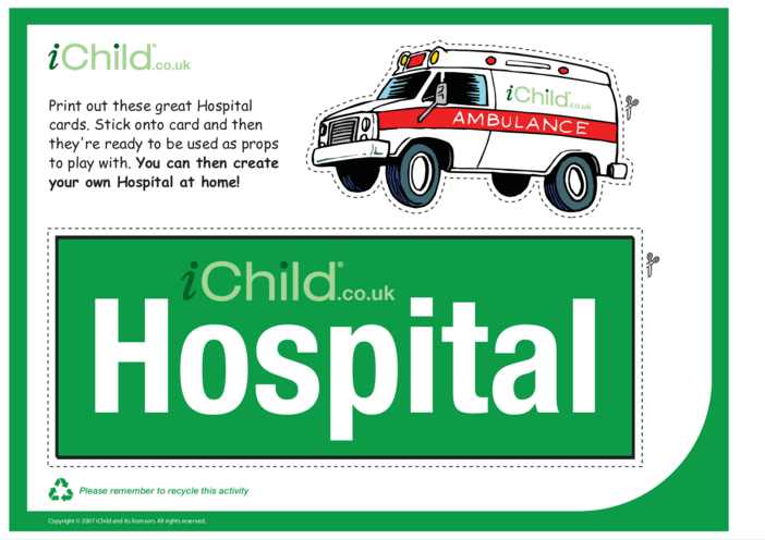 Thumbnail image for the Hospital Role Play activity.