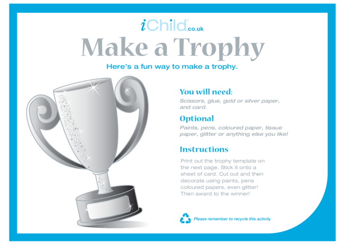 Thumbnail image for the Make a Trophy Craft activity.