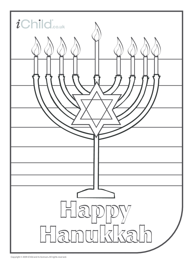 Menorah Colouring in picture