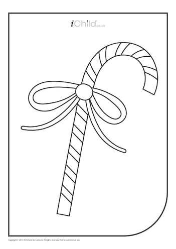Thumbnail image for the Candy Wand Colouring in Picture activity.