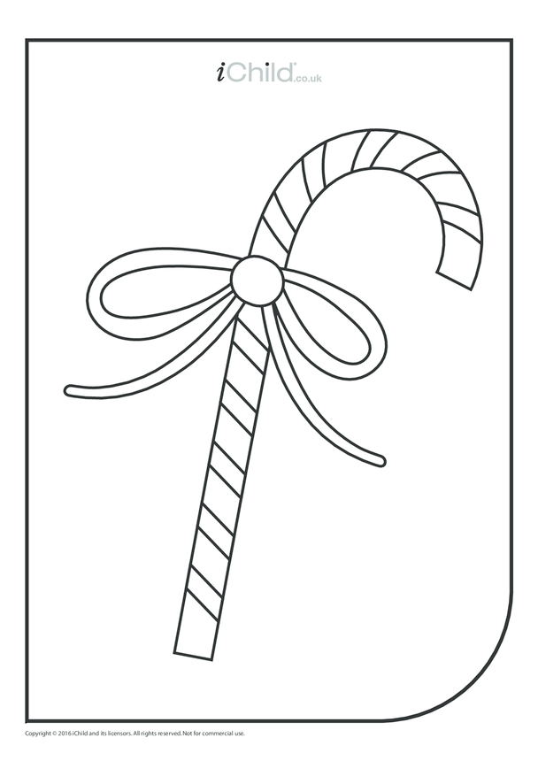 Candy Wand Colouring in Picture