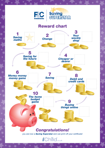Thumbnail image for the 7-11 years: Reward Chart activity.