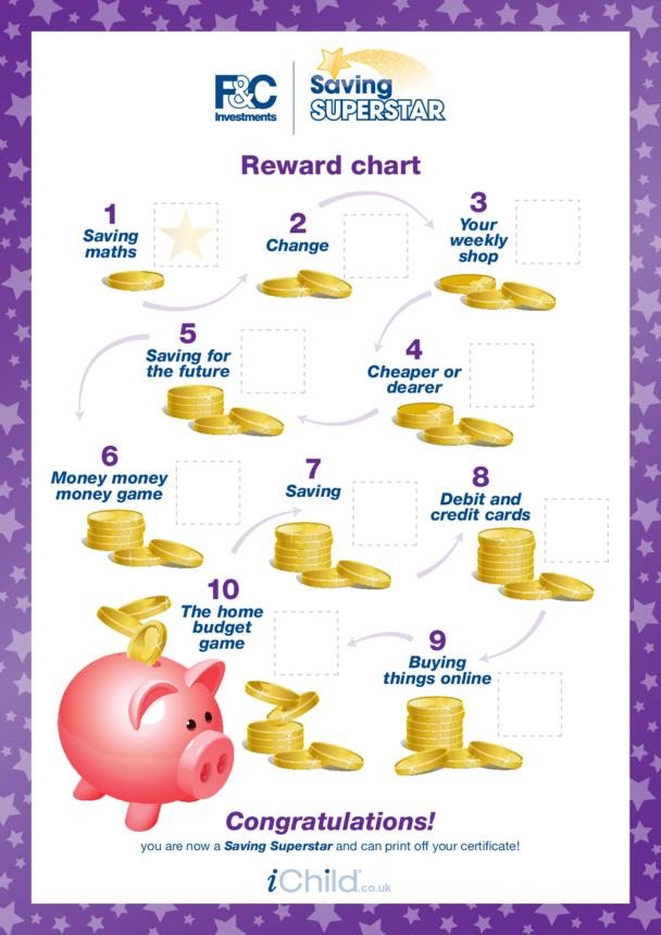 7-11 years: Reward Chart