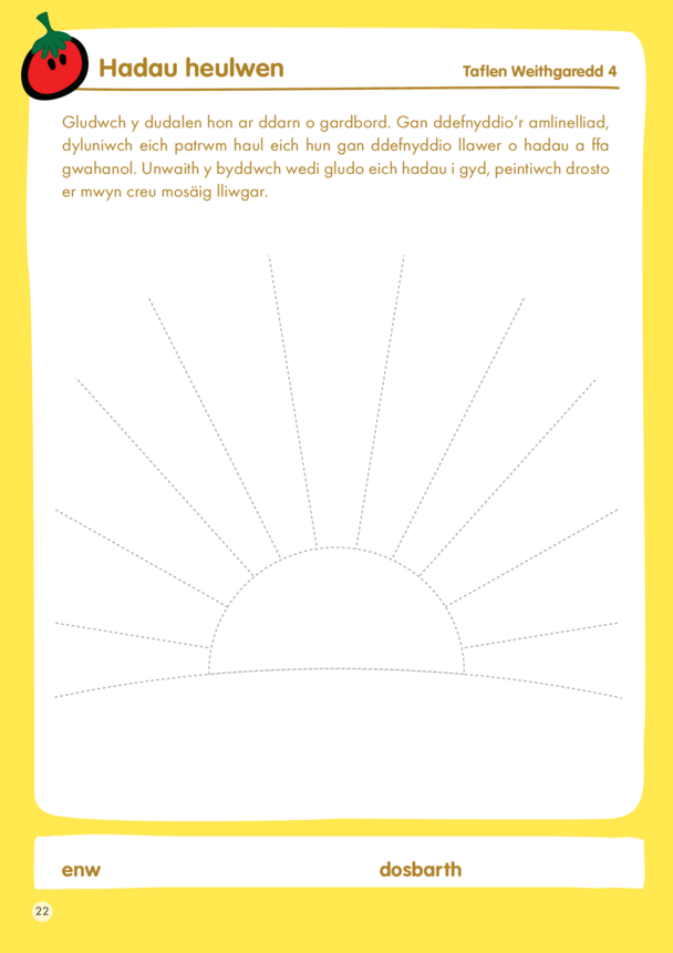 WELSH VERSION - innocent - Lesson Plan 4 Activity - Sunshine seeds