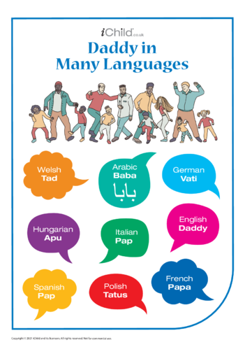 Thumbnail image for the Daddy in Many Languages activity.