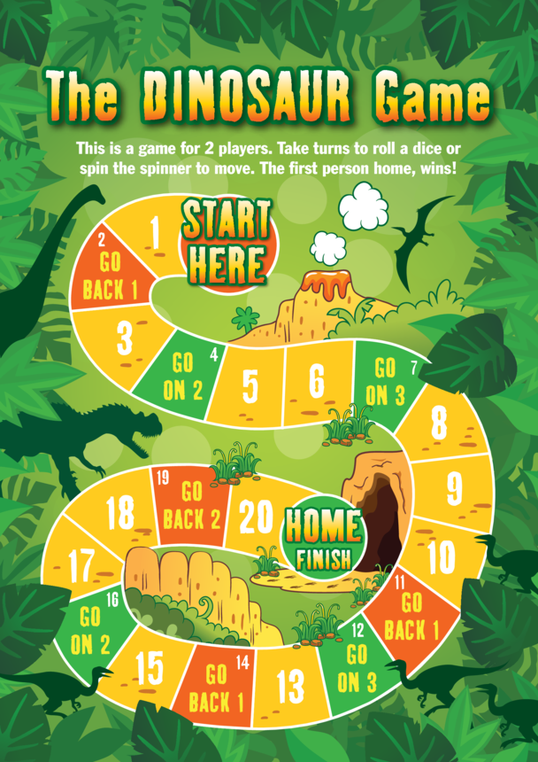 Early Years (EYFS) 5) The Dinosaur Game Board