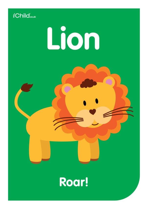 Contrasting Colours: Poster Lion