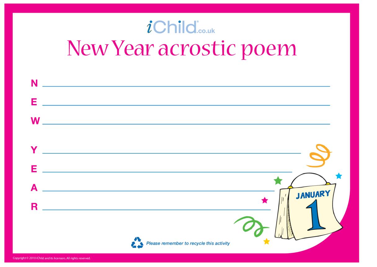 New Year Acrostic Poem