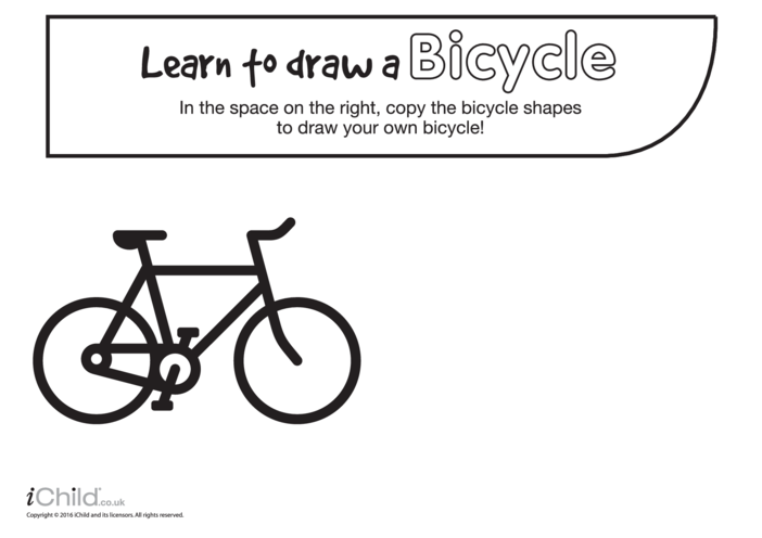 Thumbnail image for the Learn to Draw a Bicycle activity.