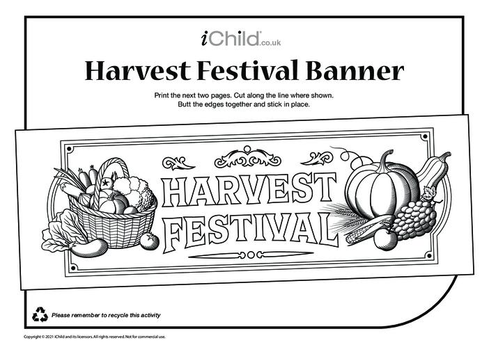 Thumbnail image for the Harvest Festival Banner activity.