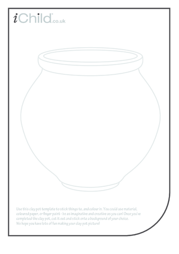 Thumbnail image for the Clay Pot Collage activity.