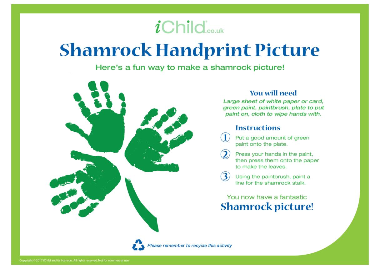 Shamrock Handprint Picture