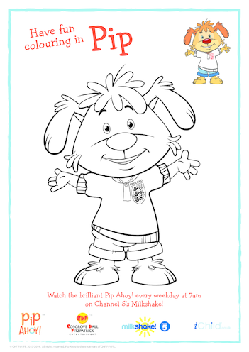 Thumbnail image for the Pip In England Kit Colouring In Picture (Pip Ahoy!) activity.