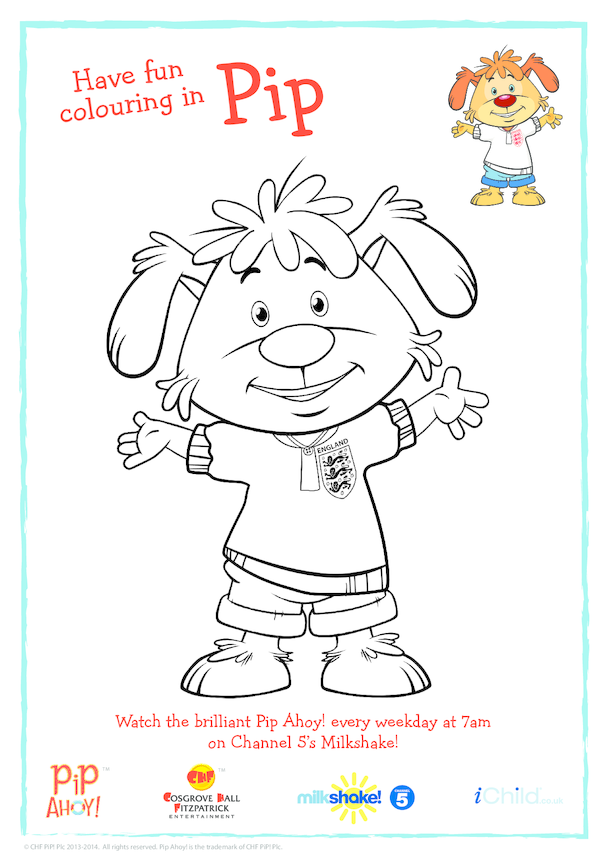 Pip In England Kit Colouring In Picture (Pip Ahoy!)
