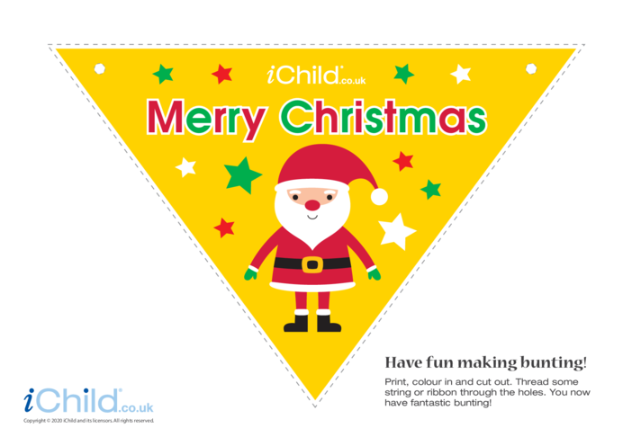 Thumbnail image for the A Merry Christmas Bunting activity.