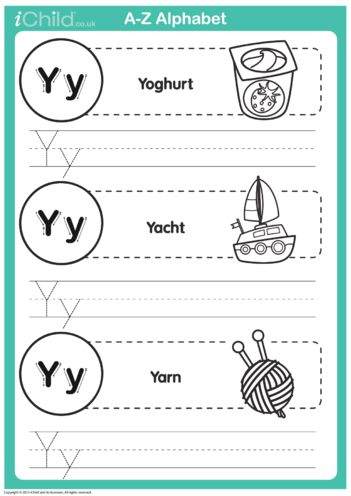 Thumbnail image for the Y: Write the Letter Y activity.
