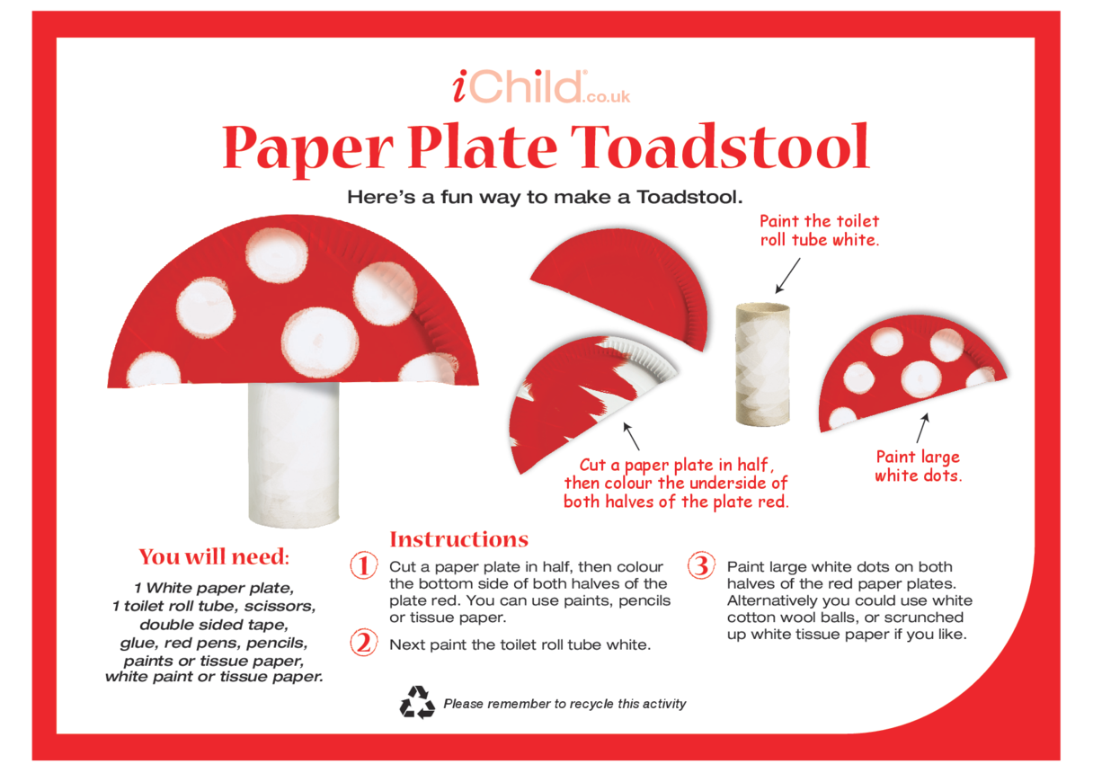 Toadstool Paper Plate Craft