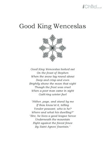 Thumbnail image for the Christmas Carol Lyrics: Good King Wenceslas activity.