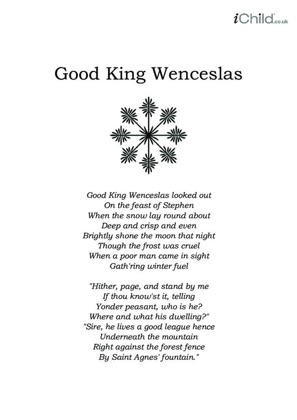 Christmas Carol Lyrics: Good King Wenceslas