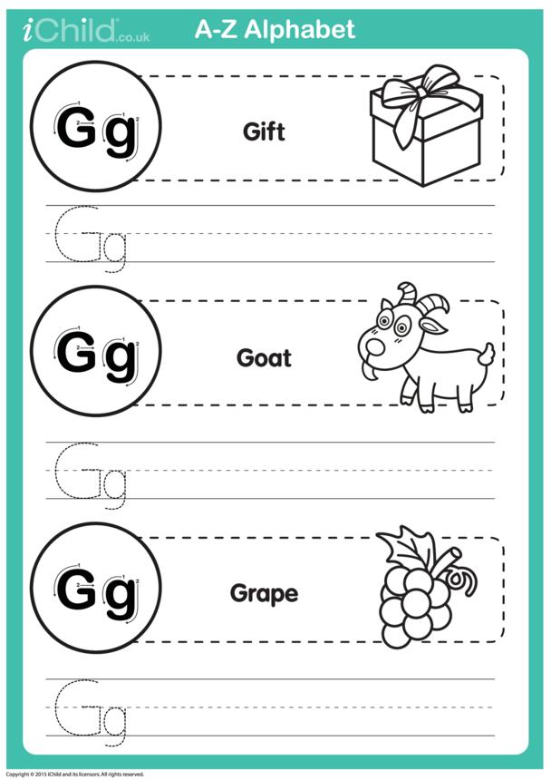 G: Write the Letter G