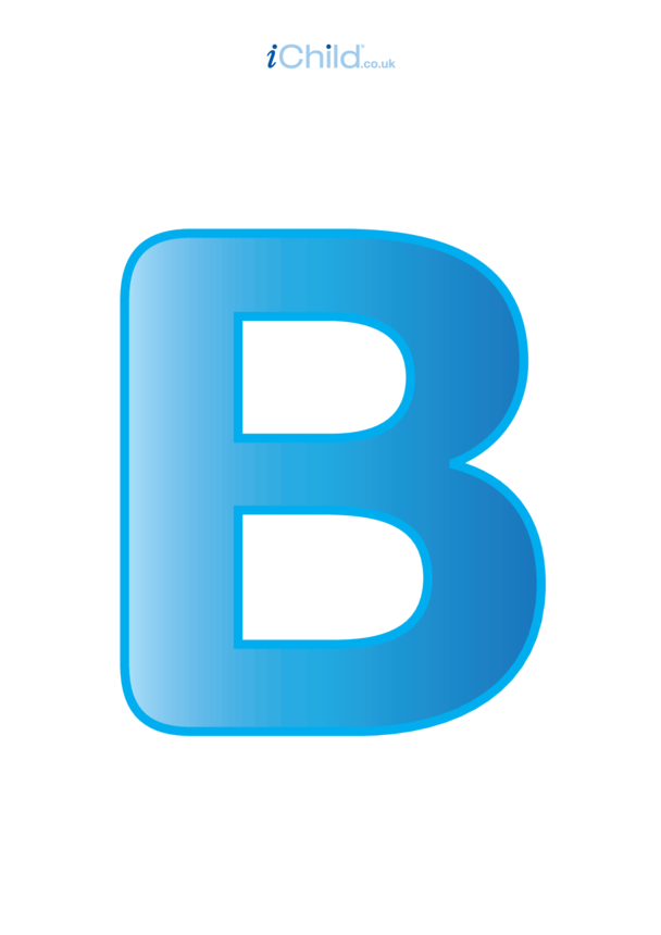 B: Poster of the Letter 'B'