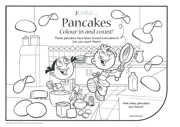 Thumbnail image for the Pancake Day Colour & Count activity.