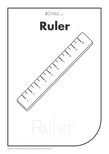 Thumbnail image for the Ruler: Colouring in & Handwriting activity.