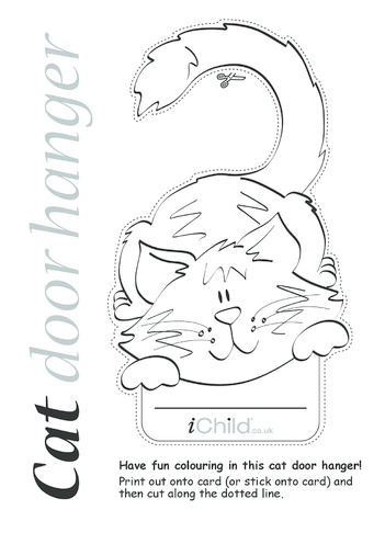 Thumbnail image for the Cat Door Hanger activity.