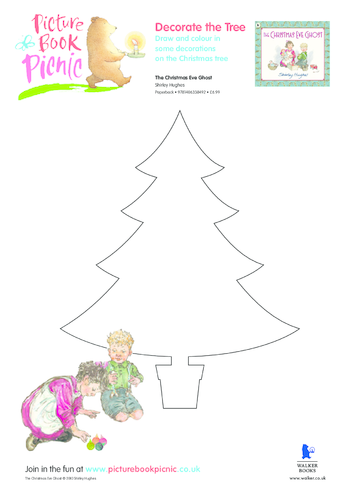 Thumbnail image for the The Christmas Eve Ghost: Decorate the Tree activity.