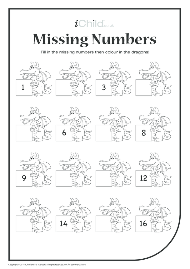 Missing Numbers - Dragons