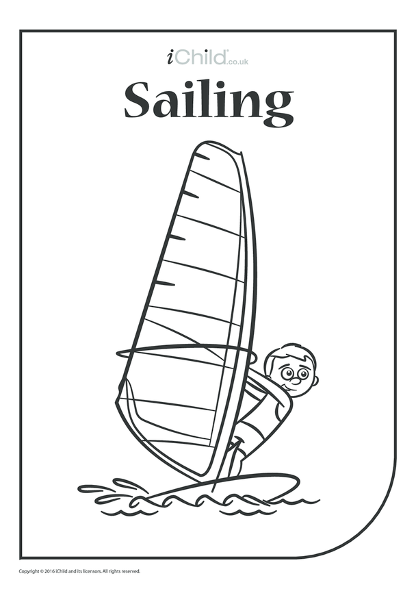 Sailing Colouring in Picture